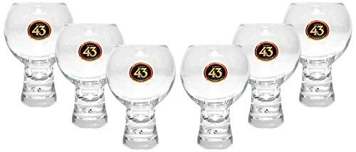 Licor 43 Cuarenta y Tre Glas Gläser-Set - 6x Gläser + Goldberg Intense Ginger 0,15l EINWEG