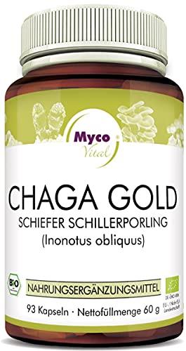 CHAGA Gold Pilzpulver-Kapseln   93 Pilz-Kapseln mit je 750mg hochwertigem Pilzpulver   Vitalpilz Pulver   Superfood 100{283bcb5c7a5ad3b197e2f3b3a08110f77a3dd5c8e92ae90cc0dd1f42bb29bd98} vegan (CHAGA Gold)