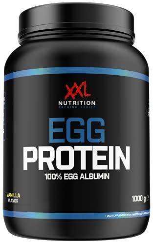 XXL Nutrition Egg Protein | Ei Eiweiß Fettfrei - Nur 0,2 Gramm Zucker | 1000g (Vanille)