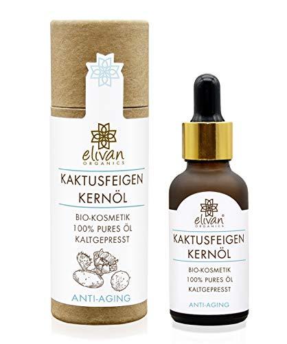 Kaktusfeigenkernöl - 30 ml - Das Anti-Aging Serum aus Marokko - 100{a9b578e63eeba34bc9acad99353439c466af1f56da8043435da9e196818f805a} rein - kaltgepresst - Bio (ECOCERT) - Vitamin E - Feuchtigkeitspflege für Haut, Gesicht, Haar & Nägel