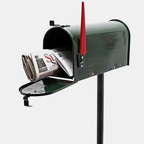 US Mailbox Briefkasten Amerikanisches Design grün mit passendem Standfuß