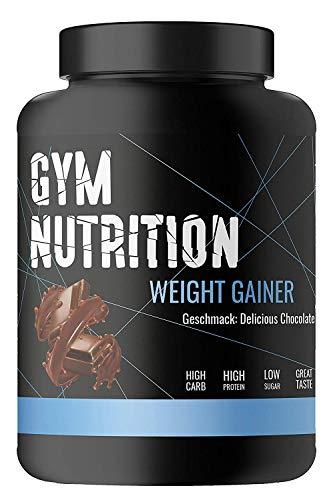 PREMIUM WEIGHT-GAINER - ideal für Body-Builder & Hard-Gainer, die Gewicht aufbauen wollen - Mass & Muscle Powder - Made in Germany - 1-kg, Geschmack: DELICIOUS CHOCOLATE