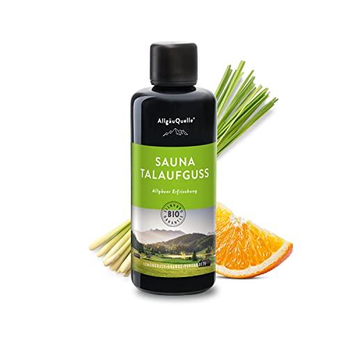 Saunaaufguss mit 100{6b2c183a84b7838b668ad36706cd1d85798b04f7100ece7a9994a0d424ee50fd} BIO-Öle Erfrischung Lemongrass Orange Bergamotte (100ml). Natürlicher Sauna-aufguss m. ätherische Sauna-Öle im Aufguss-Mittel. Saunaöl natrurrein und biologisch.