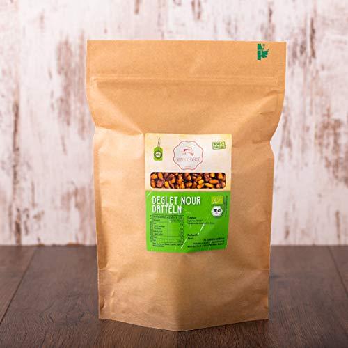 süssundclever.de® | Bio Deglet Nour Datteln | 1 kg | Premium Qualität | hochwertiges Naturprodukt ohne Zusätze | 100{fb63e0bcf5e31e136e84cbe9a5279ba7653e663fcb60e81961c8186ec0c19ba8} Bio | entkernt | plastikfrei und ökologisch-nachhaltig abgepackt