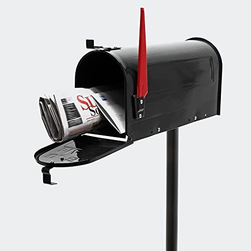US Mailbox Briefkasten Amerikanisches Design schwarz mit passendem Standfuß