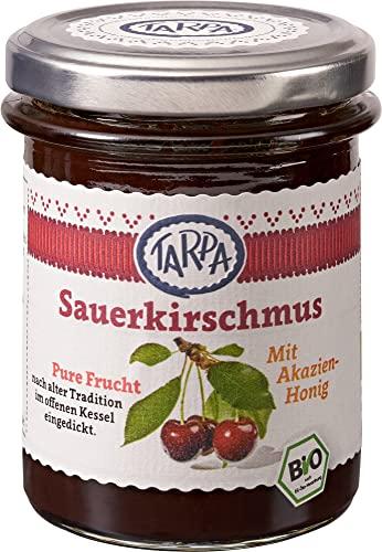 Tarpa Bio Sauerkirschmus 90{5a409a38d4c853b2e57874d0c16845491241ac437e2888f5c3928040c3f5c106} (6 x 220 gr)