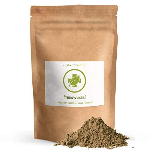 Yamswurzel Pulver (Wild Yams) - 100 g - Dioscorea villosa - Spitzenqualität - ideal für Smoothies und andere Getränke - 100{2312141eb2ad0713a91274934599e406eedb5c3c38977f91c9347ec38477750b} vegan & rein - glutenfrei, laktosefrei - OHNE Hilfs- u. Zusatzstoffe