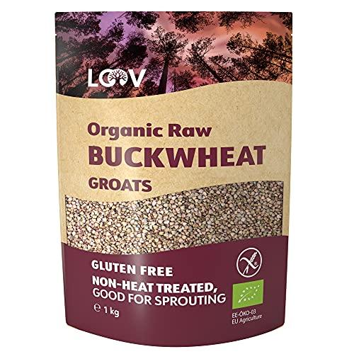 Rohe Bio Buchweizengrütze Glutenfrei, 1 kg, Nicht Wärmebehandelt, mit Allen Nährstoffen, Köstlich Nussiger Geschmack, Perfekt zum Keimen, Biologischer Anbau im Nordischen Klima, Ohne Gentechnik