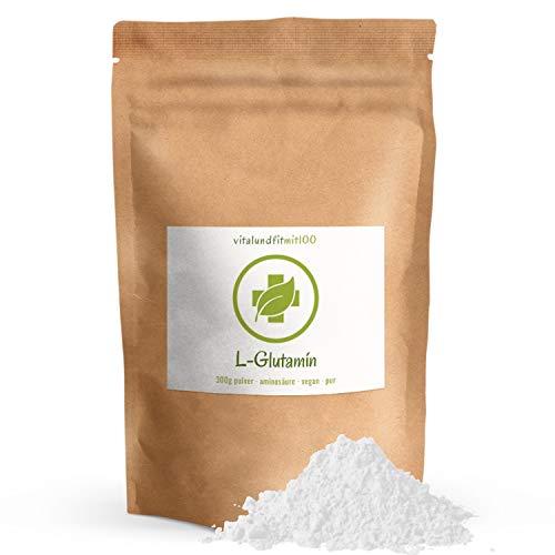 L-Glutamin Pulver - 300 g - nicht essentielle Alpha Aminosäure - in geprüfter Qualität - gentechnikfrei - 100{9f8ed73b84383767d0ff175279431a9dca205c203b40bdaafdc9264e22372dcb} vegan & rein - glutenfrei - laktosefrei - OHNE Hilfs- u. Zusatzstoffe