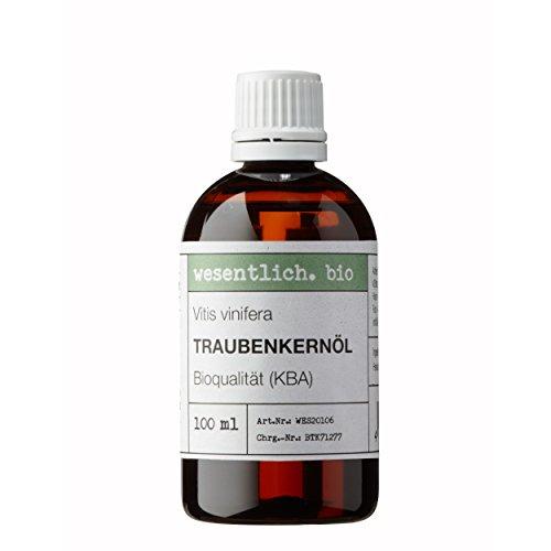Traubenkernöl BIO kaltgepresst 100ml (Vitis Vinifera Seed Oil) von wesentlich.
