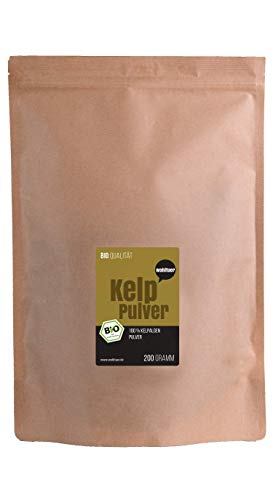 Wohltuer Bio Kelp Pulver | Kelp Algenpulver | Natürliche Jodquelle | Smoothie Pulver 200g
