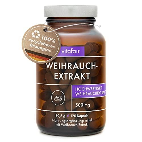Boswellia Serrata Extrakt - 500mg pro Tagesdosis - 120 Kapseln - 85{04403dc64ba16e0d360fbeb63f87f4590403ac932f6275ad66687603edb803e6} Boswelliasäure = 425mg - Hochdosierte Weihrauch-Kapseln - Vegan - Ohne Magnesiumstearat - Made in Germany