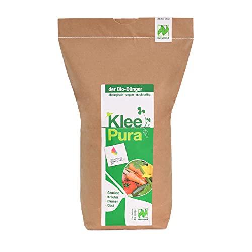 KleePura der NATURLAND Bio Dünger aus 100{4d6414037a99907032abb79209c1139288c8aa118f59c53f112519ababa0250d} Bio Klee - 5 kg, rein pflanzliches (vegan) Bio Düngemittel, organischer NPK Dünger - ideal für Tomaten, Gemüse, Kräuter, Obst, Blumen und Grünpflanzen