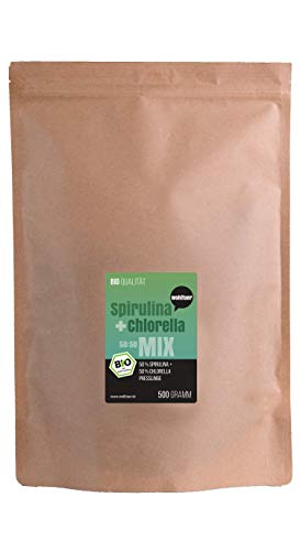 Wohltuer Spirulina + Chlorella Bio Algen Superfood Mix Tabletten in Rohkostqualität 500g