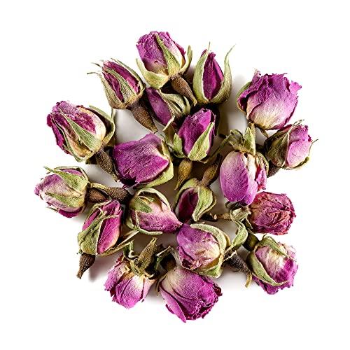 Damaszener Rose Knospen Bio Tee - Wohltuend süß - Organischer Rosa damascena knospe - Süße rosenblütenblätter - rosenblütentee - rosenknospen Keim 100g
