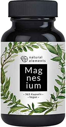 Premium Magnesiumcitrat - Vergleichssieger 2019* - 2250mg davon 360mg elementares Magnesium pro Tagesdosis - 365 Kapseln - Laborgeprüft, hochdosiert, hergestellt in Deutschland