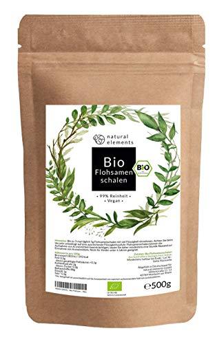 Bio Flohsamenschalen - Premium Qualität: Laborgeprüft, 99+{b5d187143ec948190726cc62a77f47d20d8bf70566a8569adec14ccb2c98fb66} Reinheit, zertifiziert Bio. Vegan. Low-Carb. Ballaststoffreich. Glutenfrei. Ohne Zusätze. Nachhaltig angebaut - 500g Beutel