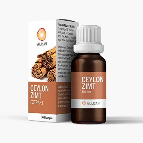 GOLISAN Premium Zimt Ceylon Extrakt • hochdosiert • Tropfen • 15ml