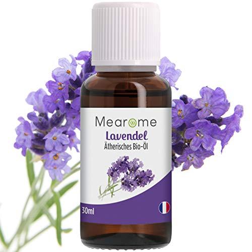 Lavendelöl BIO - Ätherisches Öl 100{1100b32a57ae05956f24972f57b358b643182e03968348ce75bd1847bdb5025f} Naturrein - Zertifiziertes BIO-Produkt - Duft-Öl Lavendel 30ml, Aroma für Diffuser, Aromatherapie - Entspannungsöl für eine gute Nacht & erholsamen Schlaf