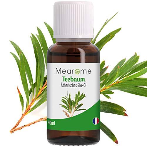 Teebaumöl 100{23385bbe01b224ee6282dcb78992704539d2c2e55abd8456f1730a9e50234e00} BIO Naturreines Ätherisches Öl zur Hautpflege/Körper/Aromatherapie - Zertifiziertes BIO-Produkt Vegan 30ml Reinigungsöl gegen Pickel, Anti-Mitesser, Acne Behandlung Reine Haut