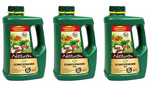 Naturen Bio Schneckenkorn Forte 2,85 kg - Regenfestes Bio Ködermittel gegen Schnecken