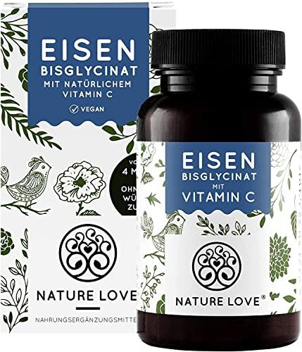 Eisen - Doppelt-dosiert mit 40mg Eisen je EINER Tablette. Plus 40mg natürliches Vitamin C. Premium: hoch bioverfügbares Eisen-Bisglycinat. Laborgeprüft, vegan, hergestellt in Deutschland