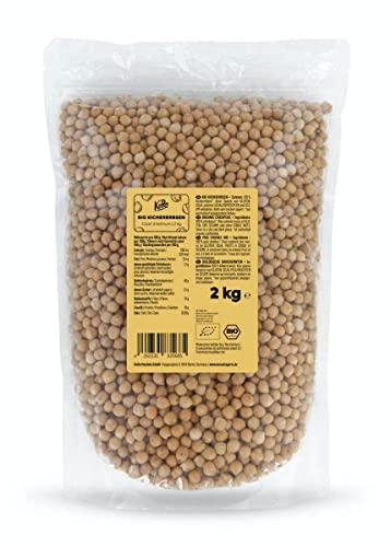 KoRo - Bio Kichererbsen 2 kg - Kontrolliert biologisch angebaute Hülsenfrüchte