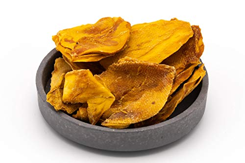 Bio Mangos 1 kg getrocknete Mango Hälften aus Mexiko Cheeks, ungesüßt, ungeschwefelt, Rohkost extra weich und von Natur aus sehr süß 1000g