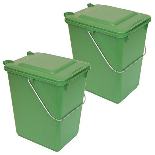 Sulo 2 x Bio Boy Grün im Set Müllbehälter für Küche und Garten 10 Liter BIOABFALL BIOMÜLL