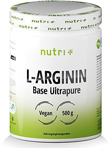 L-ARGININ BASE PULVER 500g - höchste Dosierung - pflanzlich durch Fermentation - reines L-Arginine - Vegan - Neutral - ohne Zusatz - Premiumqualität - hergestellt in Deutschland