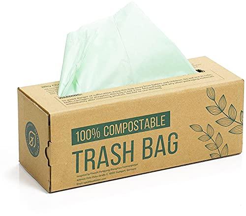 150 Beutel für Kompostbehälter 6L 8L 10L Küchen Lebensmittel Abfallbeutel 100{6823974484f05c51a76b8d59796949fa9808af14dc0835b0dae63c2627635283} biologischer und abbaubarer Beutel aus Maisstärke mit EN13432 Zertifizierung (6L)