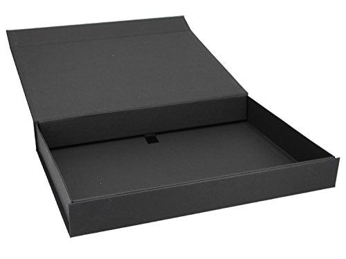Magnet Geschenkbox (A4) 31x22x4 cm Geschenkverpackung Verpackung Schachtel Geschenkkarton Geburtstag, Artikel Farbe:schwarz matt