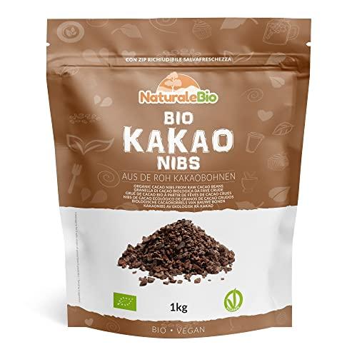 Roh Kakao Nibs Bio 1Kg | Organic Raw Cacao Nibs | 100 {b56d22cd973653252c913928db3b4fd2b7a278d1cbc4f5a6aa09ac0042cdb335} Rohkost, natürlich und rein | Produziert in Peru aus der Theobroma Cocoa Pflanze | Superfood reich an Antioxidantien, Mineralien und Vitaminen.
