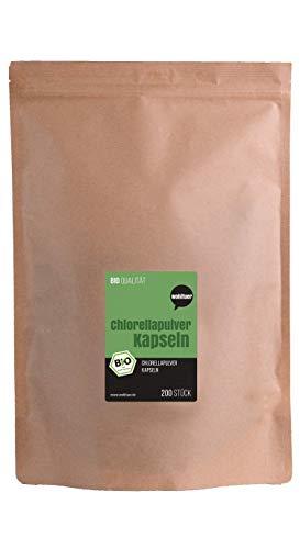 Wohltuer Bio Chlorella Kapseln 200 St | Rohkost | 100{a4317f9e58ae0bf4e3d0e970f12efd7bc83c25d9d1c98ba22c46e6373093e456} Vegan | Chlorella vulgaris leicht zu dosieren