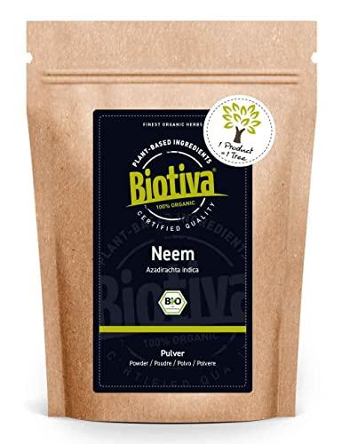 Neem-Pulver Bio 100g - Azadirachta Indica - Neembaum - Niembaum - Ayurveda Nahrungsergänzung - Bio-Qualität - Abgefüllt und kontrolliert in Deutschland (DE-ÖKO-005)