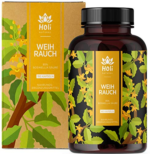 Holi Natural® Premium Weihrauch Extrakt. 85{a9c8ad6ec8f094e790484cdcc05c17d481b80806f51c3cafb4dcba4763f2d704} Boswellia-Säure. 140 Kapseln. Hochdosiert mit 2000mg je Tagesdosis (4 Kapseln). ECHTE Indische Boswellia Serrata. Vegan und ohne Zusätze