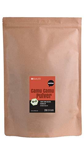 Wohltuer Bio Camu Camu Pulver 200g | Bio Fruchtpulver reich an Vitamin C | Beste Rohkost für Smoothies, Shakes und Müsli | Vegan