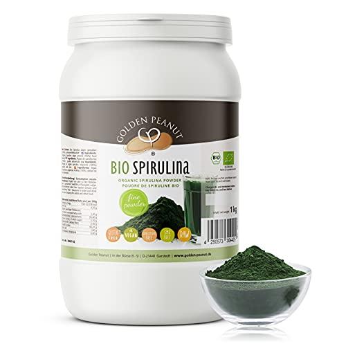Bio Spirulina Pulver 1kg Zellwände aufgebrochen glutenfrei vegan Rohkostqualität