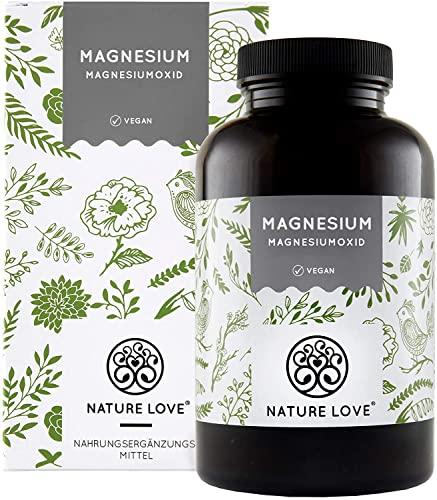 Magnesium - 660mg, davon 400mg elementares Magnesium je Kapsel - höher konzentriert als Magnesiumcitrat. 365 Kapseln im Jahresvorrat. Laborgeprüft, hochdosiert, vegan, hergestellt in Deutschland
