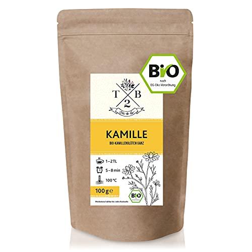 BIO-Kamillentee lose aus ganzen Kamillenblüten getrocknet - Kamille für Tee & Dampfbad, 100g für ca. 35 Tassen | Tea2Be