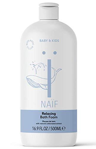 NAÏF Natürlicher Badeschaum für Baby und Kinder, Badespaß ohne aggressive Chemikalien, 500 ml