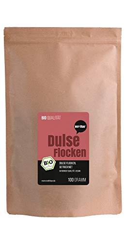 Wohltuer Bio Dulseflocken | Dulse Algen Bio | Lappentang Bio getrocknet | Aus dem Atlantik