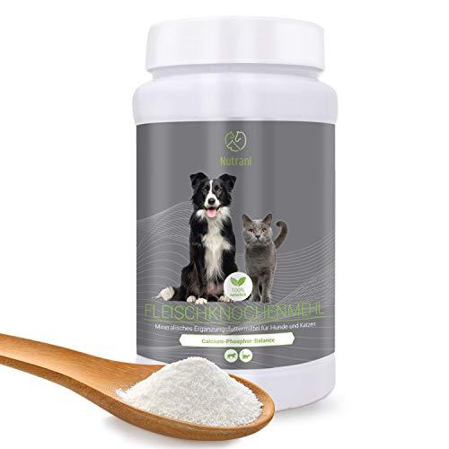 Nutrani Fleischknochenmehl für Hunde und Katzen   1 kg - 100{30182553ad7ed8848eb0aa000d8af5b29dc93858daeeb4c496018a8f63f21e25} natürliches und reines Knochenmehl zur Stärkung von Knochen und Gelenken und zur Ergänzung beim Barfen   1000 g