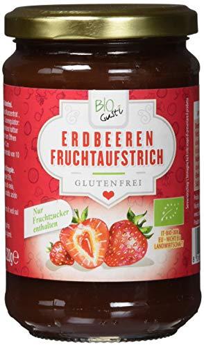 Biogustí Erdbeeren Fruchtaufstrich, 6er Pack (6 x 330 g)