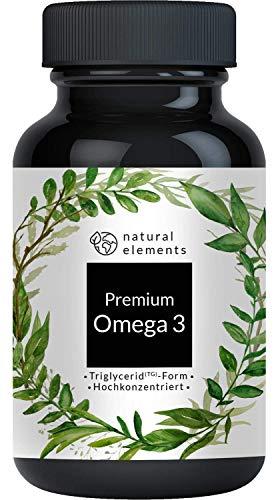 Omega 3 Fischöl - Einführungspreis - Premium: 80{1c14227309d70457182f8f6d226e2d7da8d10d6e7e033f88b8ccc1b10f67619d} Omega 3-Gehalt in Triglycerid-Form - Aufwendig aufgereinigt, hochdosiert und aus nachhaltigem Fischfang - 120 Kapseln