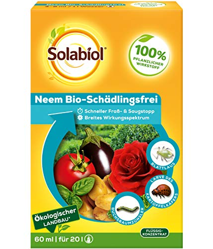 Solabiol Neem Bio-Schädlingsfrei, 60 ml biologische Schädlingsbekämpfung