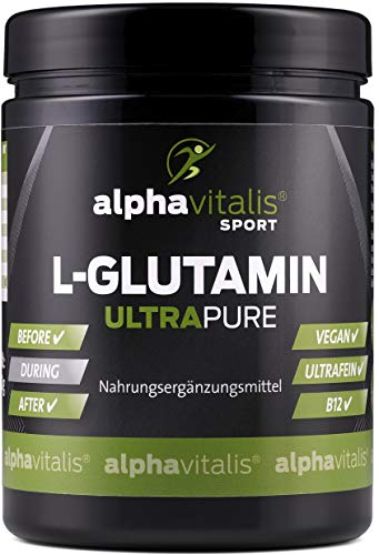 L-Glutamin Pulver ULTRAPURE - 99,95{a35de00114e9fba5ab9af97a5d52d82acb6e3c42829c8bbfa49b42e4ece5275b} rein - neutral - vegan - glutenfrei - laktosefrei - 500g feinstes L-Glutamin Pulver aus Deutscher Herstellung EINWEG