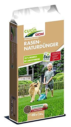 Cuxin Bio Natur Rasendünger Frühjahr unbedenklich für Mensch und Tier 20 kg - ca 450 m²