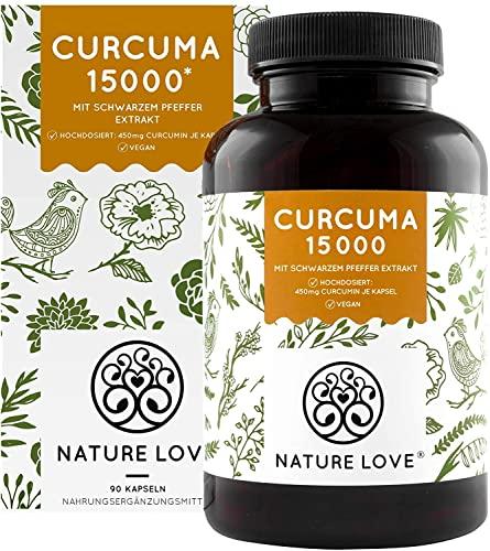 Curcuma Extrakt Kompakt - Premium: Curcumin Gehalt EINER Kapsel entspricht dem von ca. 15.000mg Kurkuma - Hochdosiert aus 95{d8fde68b0a8213aa2f7262a3b84f794398d17a58d4a92f78c54f40ced030acc3} Extrakt - Laborgeprüft, vegan, hergestellt in Deutschland