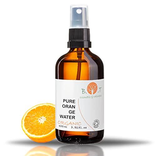 BIO Orange reines ORGANIC Wasser Hydrolat Orange 100{917816b5e7e45d8f879dc7598988ab49da1cfddfbdeefc892bbf681cce8517f5} natürlich Orangenblütenwasser 100 ml